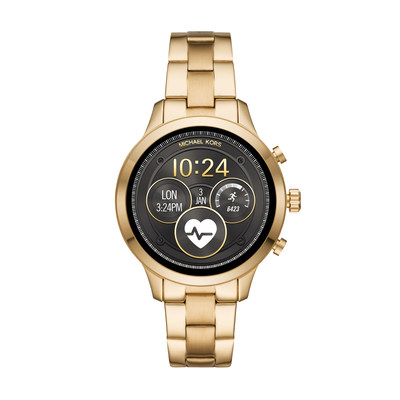 The Michael Kors Access collection continues to grow with its newest addition, the Runway Access Smartwatch, which features the latest Wear OS capabilities: heart-rate tracking, swimproof functionality, payment technology, untethered GPS and more.