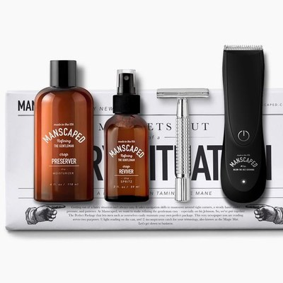 Manscaped precision engineered tools and pH balanced formulations.