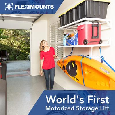 FLEXIMOUNTS - Fleximounts Announces Presale of World's First Motorized Garage Wall Shelves