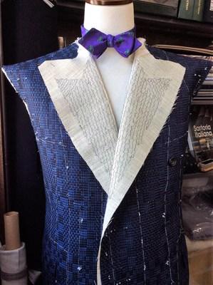 Jacket British Style, Made of Kimono Silk Stextile, HIROMI ASAI 19AW Collection