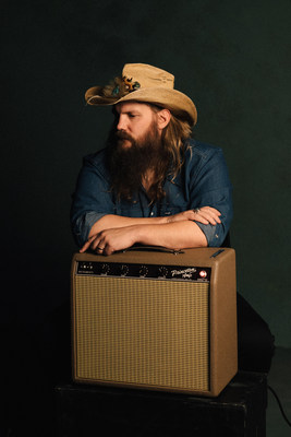 Chris Stapleton with his Fender '62 Princeton Chris Stapleton Edition Artist Signature Amplifier