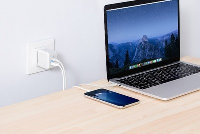 Innergie 27M USB-C Wall Charger - a compact dual USB-C & USB port wall charger could charge multiple devices at the same time