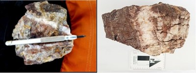 Figure 5 Nava Zone – Epithermal Stockwork Quartz Veinlets with Boxworks of Hematite (ex-Pyrite) (CNW Group/Goldplay Exploration Ltd)