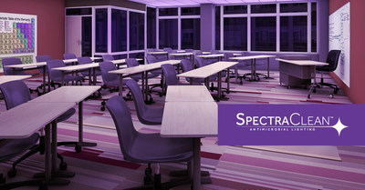 hubbell lighting introduces spectraclean visible light disinfection technology for commercial and industrial markets