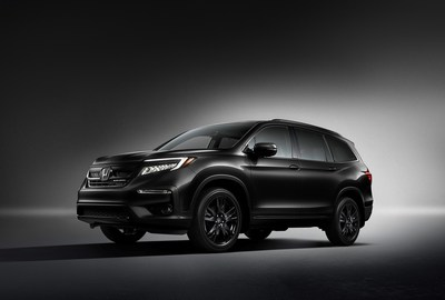 Fresh from a thorough style and technology update for model year 2019, the 2020 Honda Pilot begins arriving in dealerships tomorrow with the addition of a new Black Edition trim. Positioned at the top of the Pilot lineup and with a Manufacturer's Suggested Retail Price (MSRP ) of $49,620, the new Black Edition features exclusive styling touches that distinguish it from the rest of the Pilot family. The 2020 Pilot LX carries a starting MSRP of $31,550.