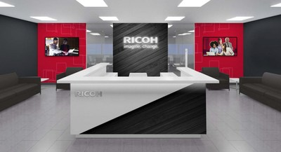 Lobby of Ricoh's new U.S. headquarters in Exton, PA