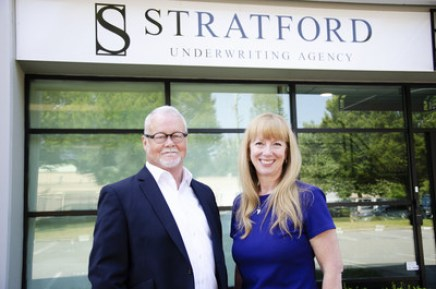 Colin Brown, CEO and Karen Hopkins-Lee, Vice President of Insurance Operations are on a mission to bring more choice, more savings and a better overall experience to B.C. drivers with their new Vancouver-based auto insurance company, Stratford Underwriting Agency. (CNW Group/Stratford Underwriting Agency)