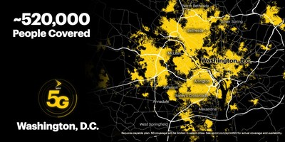 Sprint's on-the-go customers can now experience the power and performance of True Mobile 5G across Washington, D.C.