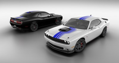 Mopar celebrates a decade of factory-vehicle customization with the unveiling of the Mopar '19 Dodge Challenger. Based on the 2019 Dodge Challenger R/T Scat Pack, the Mopar '19 Challenger carries several exterior and interior features only available on this limited-production Mopar-branded muscle car.  Available in Pitch Black or White Knuckle, the Mopar '19 Dodge Challenger offers exclusive Mopar Shakedown graphics, Shaker Hood and custom interior appointments.
