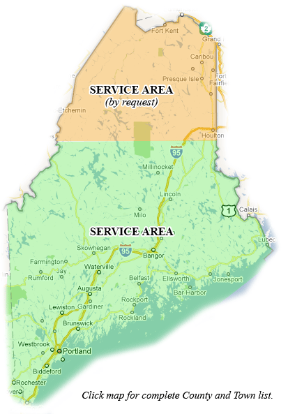 Map of maine calais us 95