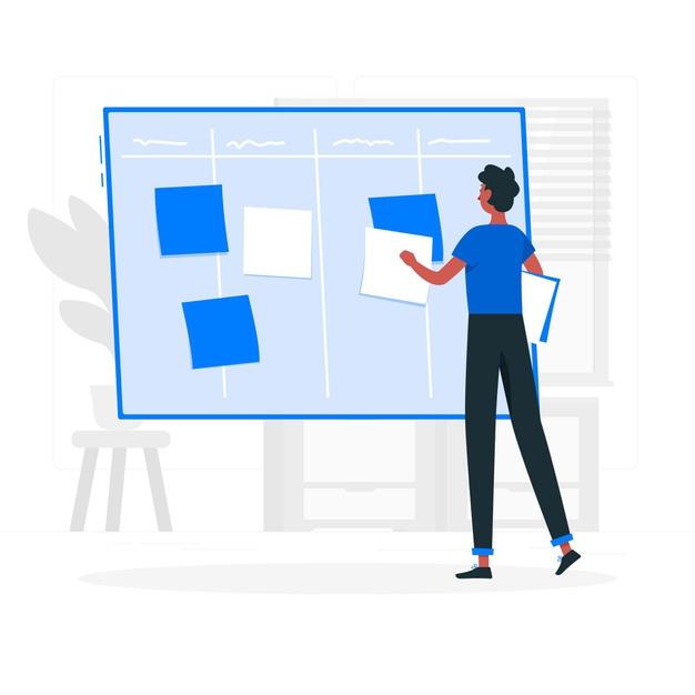 illustration-concept-scrum-board_114360-1877