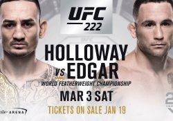UFC 222 max holloway frankie edgar