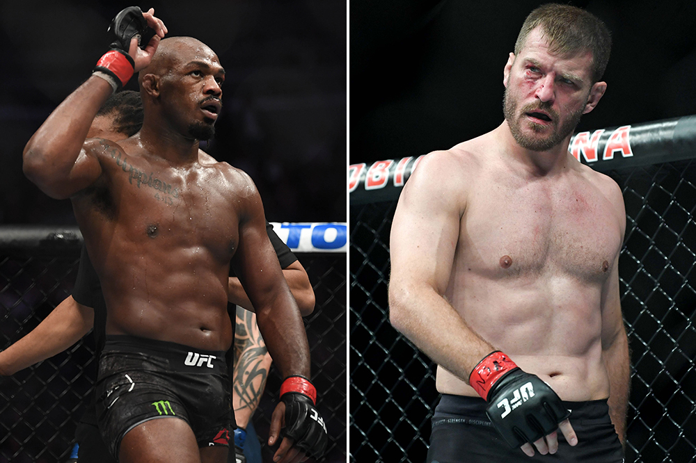 The Bones were originally supposed to make their heavyweight debut against March winner Stipe Miocic vs. Francis Ngannou's UFC 260 Rematch. The UFC quickly declined.