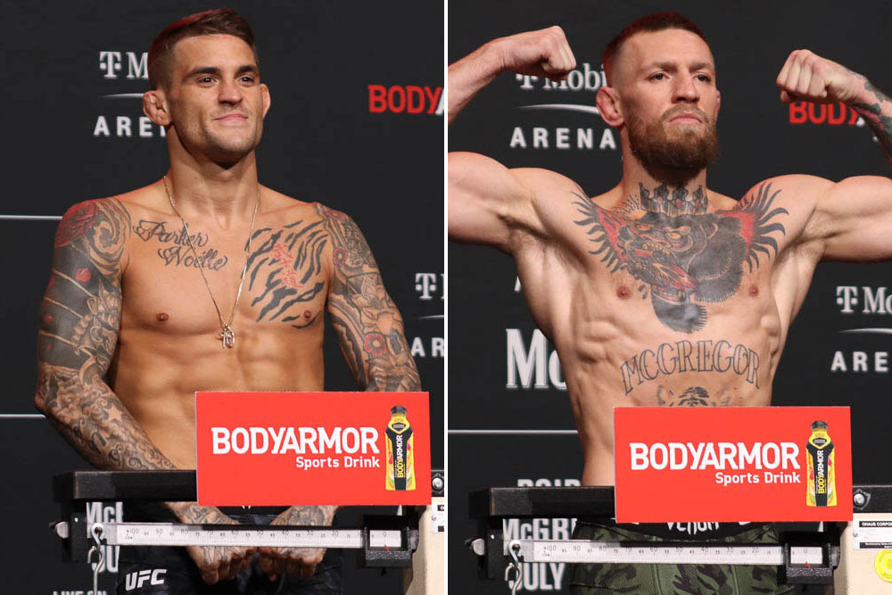 UFC 264 weigh-in Results
