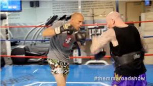 Video: Donald Cerrone working pads with Henry Smith
