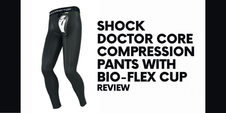 Shock Doctor Core Long Compression Pant with Bio-Flex Cup for Protection