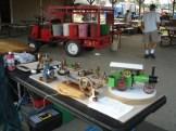 Small steam engine display