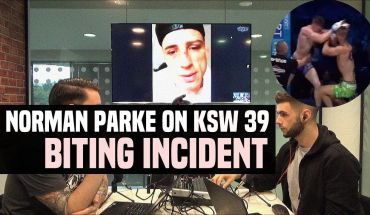 Norman Parke on the Monday following his controversial loss.