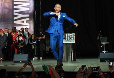 Conor McGregor onstage in Toronto.
