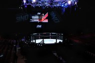 The famed ONEFC Cage at Kuala Lumpur One FC Return of Warriors before the gates were opened to the Public.