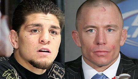 Nick Diaz and Georges St-Pierre