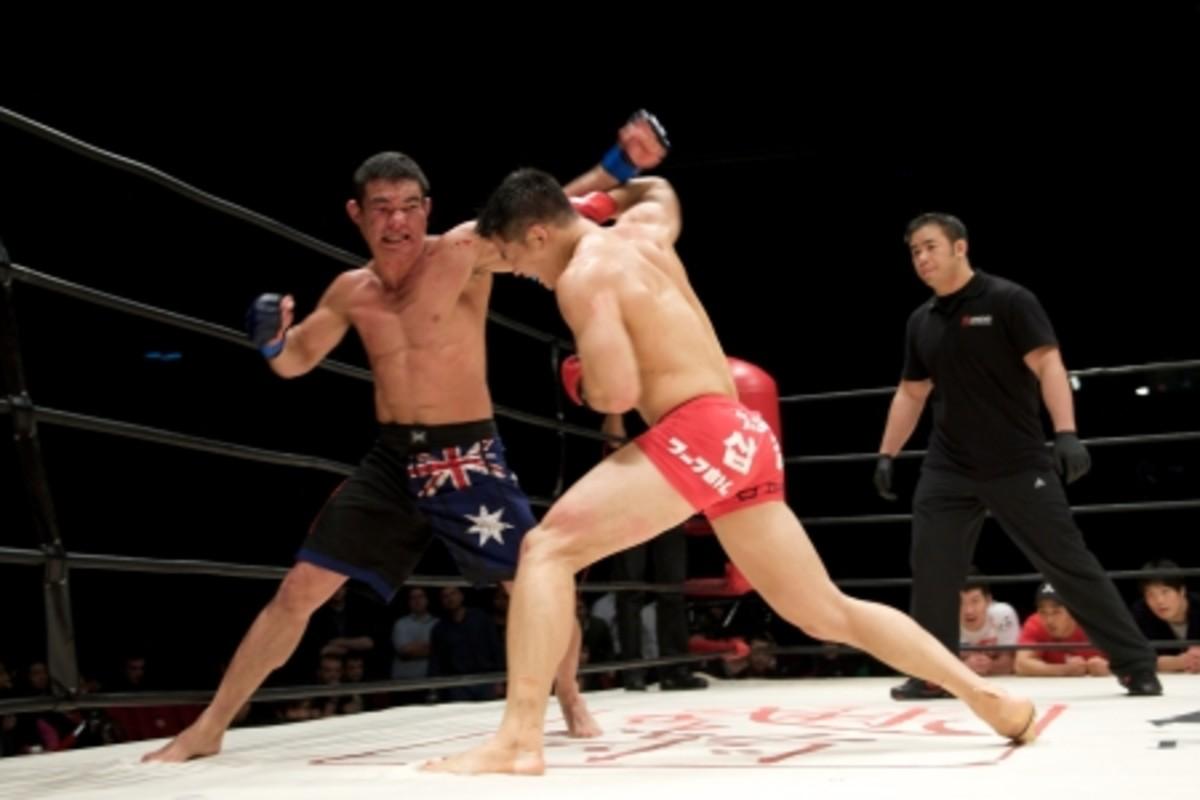 Adrian Pang vs. Nam Yui Chul (Courtesy of LegendFC)