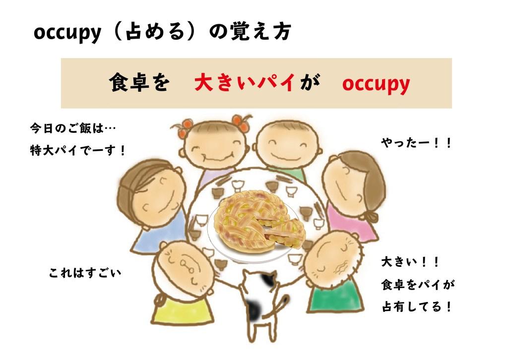 occupy(占める)の覚え方【食卓を 大きいパイが occupy】│記憶に残る ...