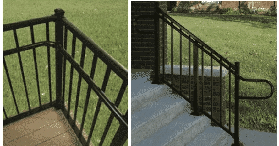 Ada Compliant Handrails Mmc Fencing Railing | Handicap Rails For Steps | Deck | Wheelchair Ramp | Activated Led | Adjustable Height | Bed