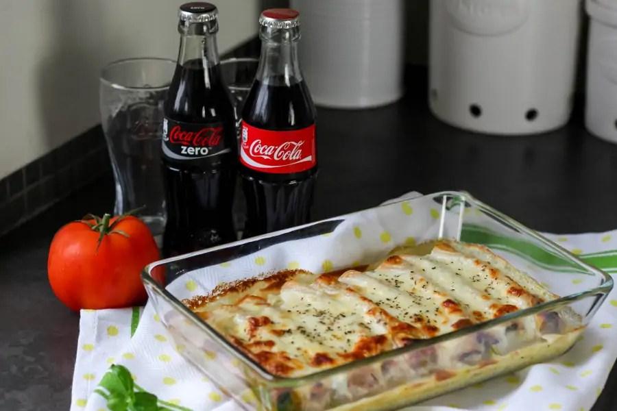Cannelloni z mięsem, szpinakiem i ricottą