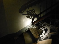14 - Beautiful wrought iron on the back stairs