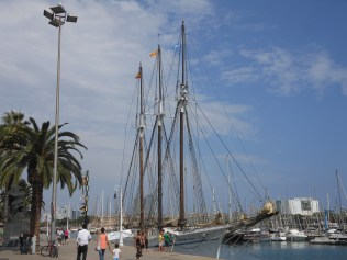 Tall ship from the Maritime Museum