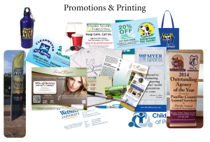 My marketing Department promotions and printing