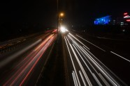 Image of Streaks of lights of moving vehicles