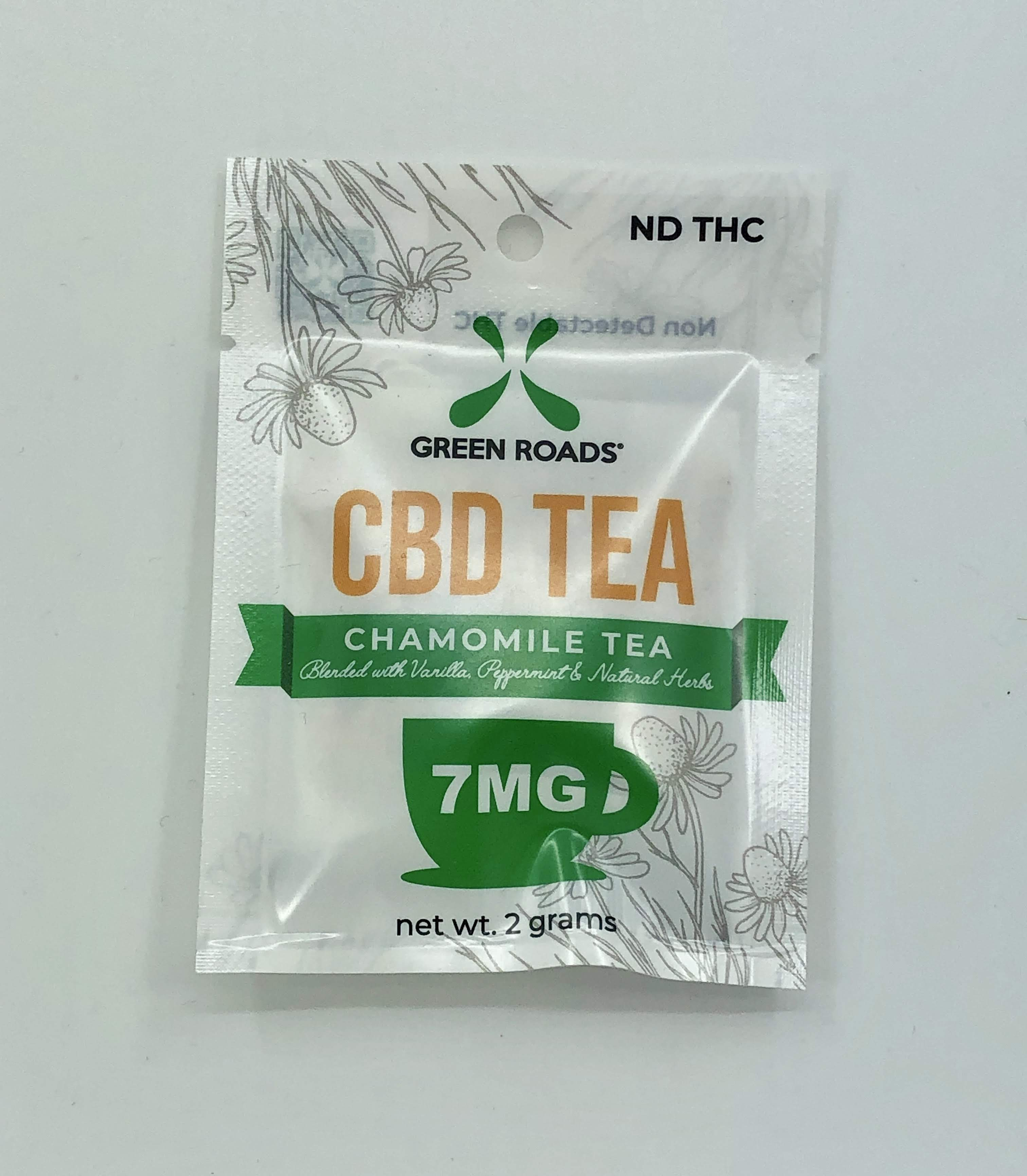 Greenroads Single Chamomile Tea Bag (7mg) – MMD Holistic
