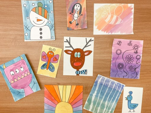 Here is an example of various directed drawings I did with my students in Kindergarten