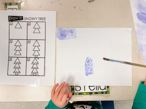 Example of individual directed drawings. These were done using white crayon and watercolour on top.