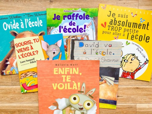 First day of school books in French. Livres pour la rentrée