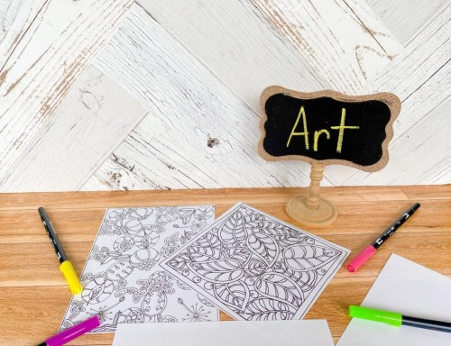 Art activity for the first day of grade 1