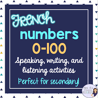 French numbers practice for secondary students