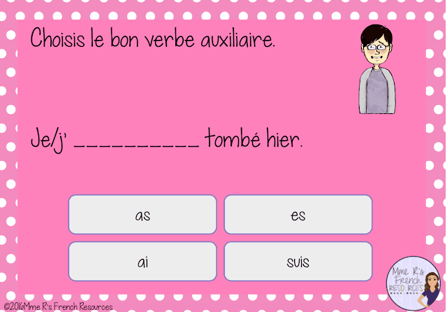 Digital task cards for practicing French verb conjugations are a huge time-saver that students love!