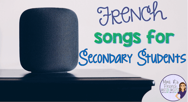 This list of French songs for secondary students and teachers includes links to videos and ideas for using music to teach grammar and vocabulary.