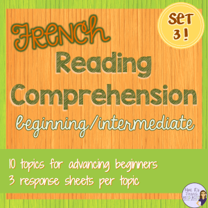 French-reading-comprehension activities