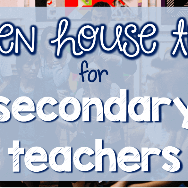 Open house night tips for secondary teachers
