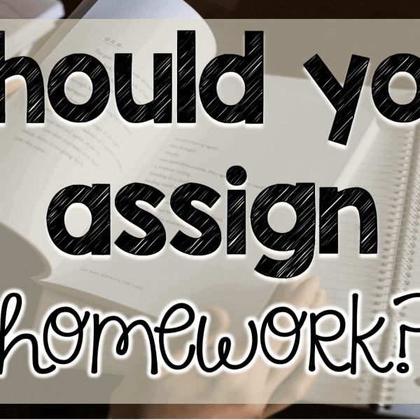Should you assign homework?