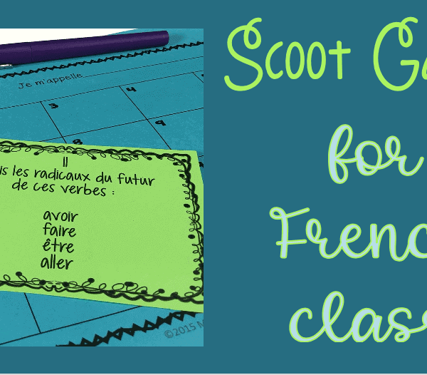 Scoot games for French class