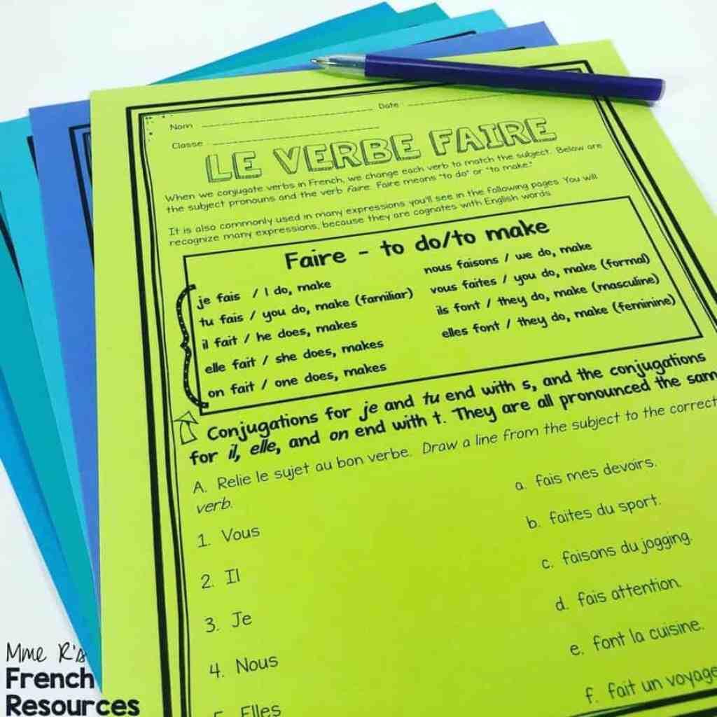 faire-conjugation-practice