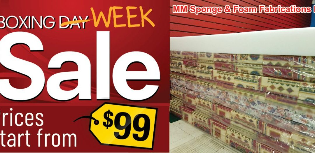 Boxing Week Sale Starts at MM Sponge & Foam Fabrications Ltd.