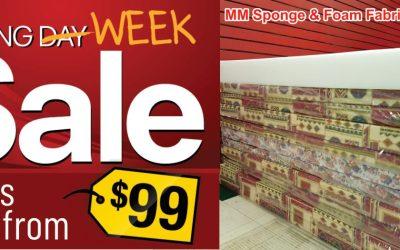 Boxing Week Sale Starts at MM Sponge & Foam Fabrications Ltd.