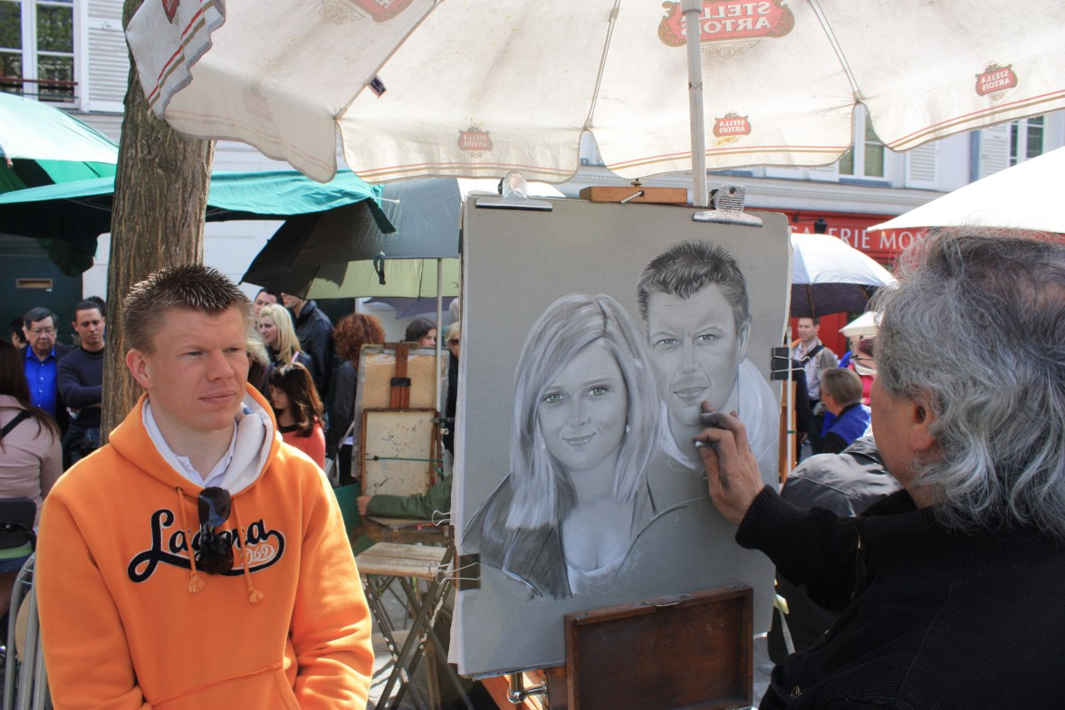 2010 auf dem Place du Tertre in Paris: Pärchenportrait