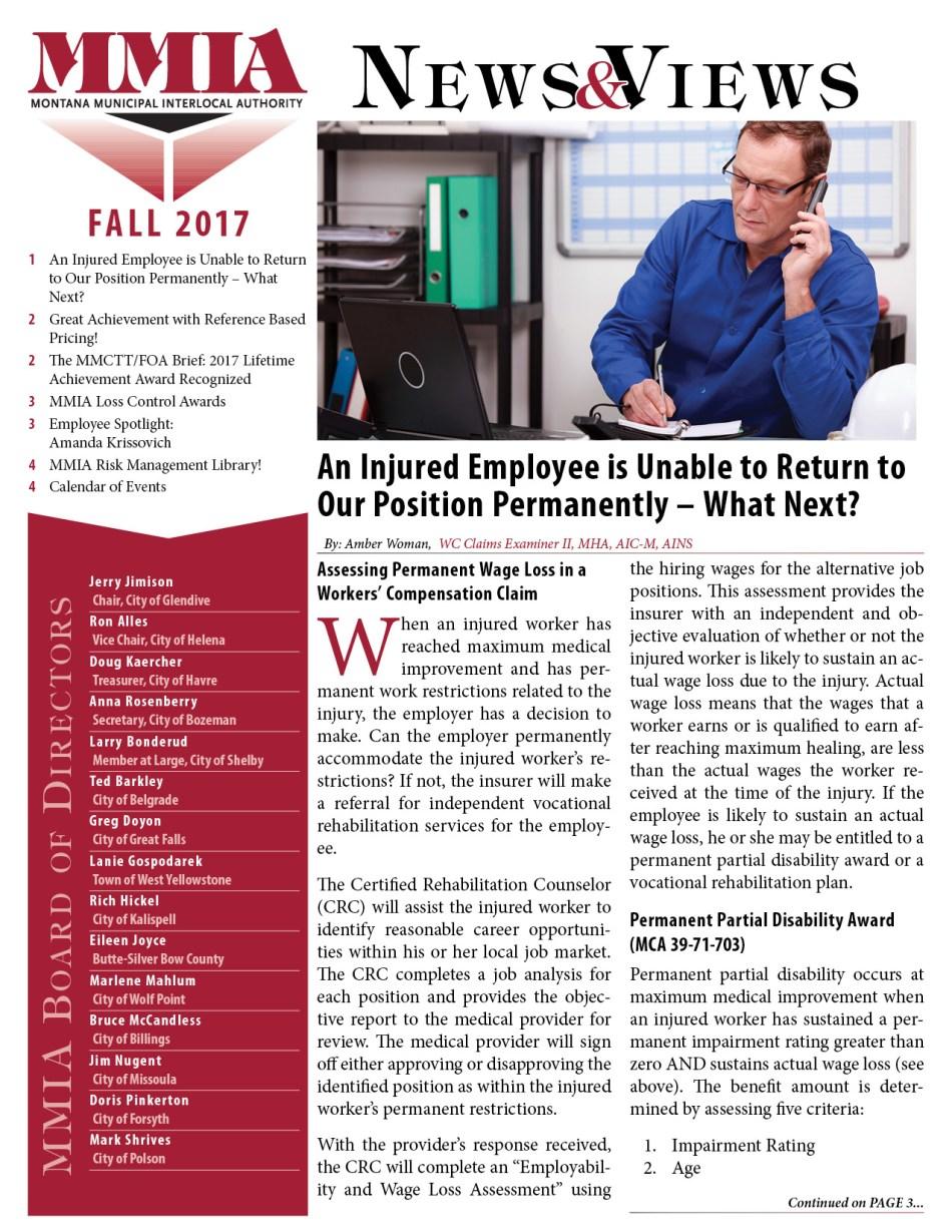 MMIA News & Views - Fall 2017